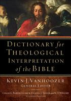 Dictionary for Theological Interpretation of the Bible PDF