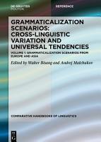 Grammaticalization Scenarios from Europe and Asia PDF