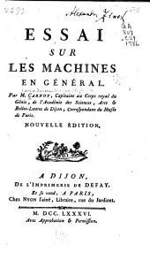 Essai sur les machines en général