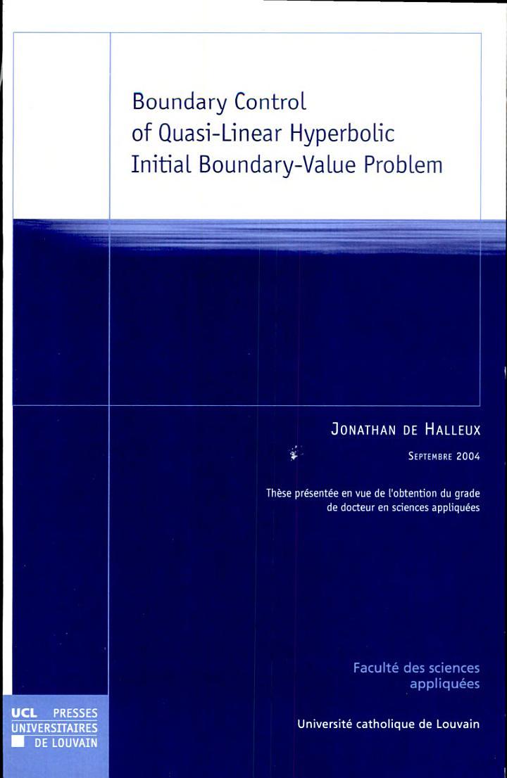 Boundary Control of Quasi-Linear Hyperbolic Initial Boundary-Value Problem