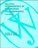 Fundamentals of Engineering Thermodynamics  Appendices PDF