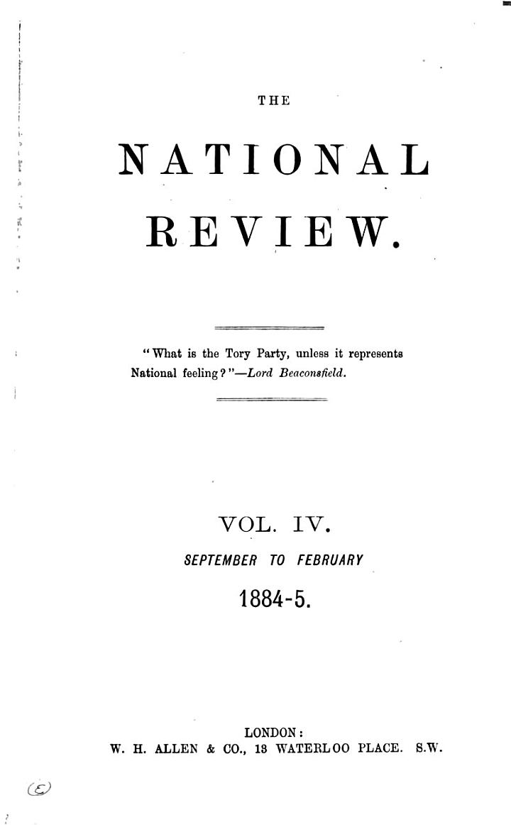 The National and English Review