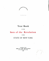 Yearbook of the Sons of the Revolution in the State of New York