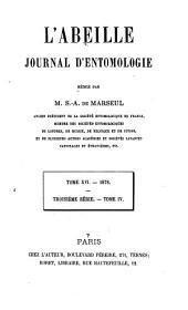 L'Abeille: journal d'entomologie, Volume 16
