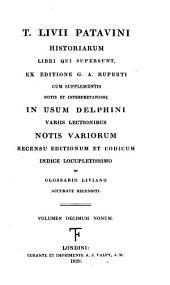 T. Livii ... Historiarum libri qui supersunt, ex ed. G.A. Ruperti, cum suppl., notis et interpretatione