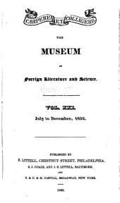 Museum of Foreign Literature, Science and Art: Volume 21