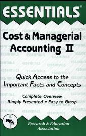 Cost and Managerial Accounting II Essentials