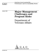 Major management challenges and program risks Department of Veterans Affairs.