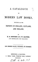 A catalogue of modern law books   14 issues   PDF