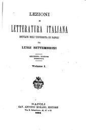 Lezioni di letteratura italiana ...