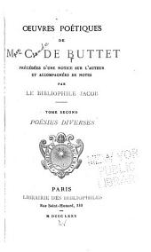 Oeuvres poétiques: Volume2