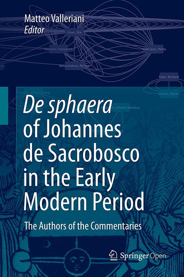 De Sphaera of Johannes de Sacrobosco in the Early Modern Period