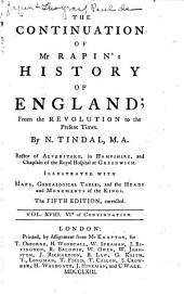 The History of England: Volume 18