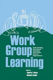 Work Group Learning: Understanding, Improving and Assessing How Groups Learn in Organizations