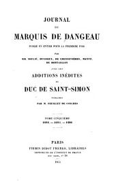 Journal du marquis de Dangeau: Volume 5