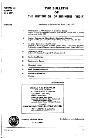 Bulletin of the Institution of Engineers  India   PDF