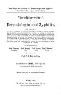 Vierteljahresschrift f  r Dermatologie und Syphilis PDF