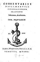 In Epistolas Ciceronis ad Atticum ... commentarius