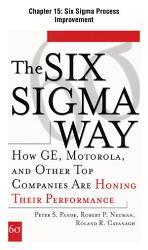 The Six Sigma Way Chapter 15 Six Sigma Process Improvement Book PDF