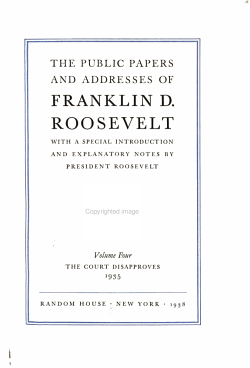 The Public Papers and Addresses of Franklin D  Roosevelt PDF