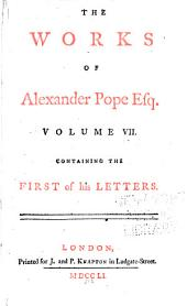 The Works of Alexander Pope Esq: Volume 7