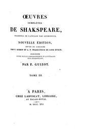 Œuvres complètes de Shakspeare: Volume3