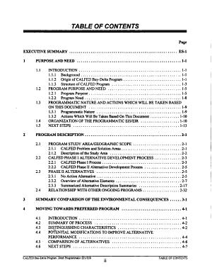 Programmatic Environmental Impact Statement/environmental Impact Report