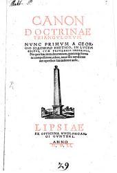 Canon doctrinae triangulorum