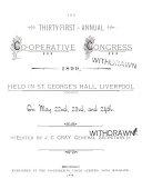 Annual Co-operative Congress