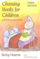 Choosing Books for Children PDF