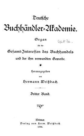 Deutsche Buchh  ndler akademie PDF