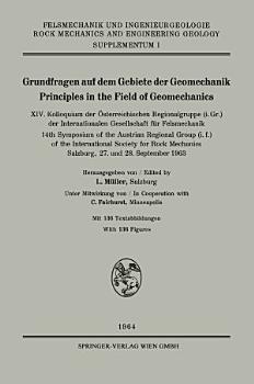 Grundfragen auf dem Gebiete der Geomechanik   Principles in the Field of Geomechanics PDF