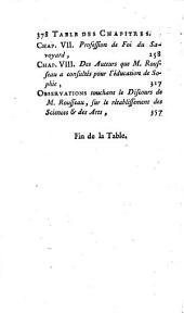 Les plagiates de M. J[ean] J[acques] R[ousseau] de Genève, sur l'éducation