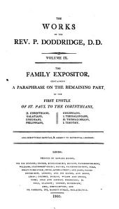 The Works of the Rev. P. Doddridge: Volume 9