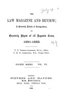 The Law Magazine and Review PDF