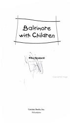 Baltimore With Children Book PDF