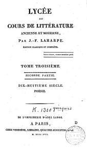 Lycée ou cours de littérature ancienne et moderne: Volume4