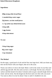 Dinner Recipes - Baked Mincemeat Doughnuts Recipe