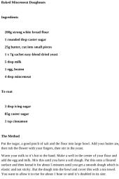 Dinner Recipes - Baked Mincemeat Doughnuts Recipe