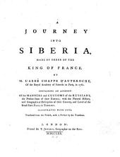 A Journey Into Siberia: Made by Order of the King of France