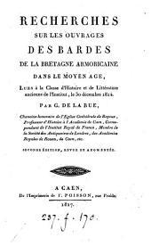 Recherches sur les ouvrages des bardes de la Bretagne armoricaine dans le moyen âge
