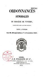 Ordonnances synodales du diocèse de Viviers