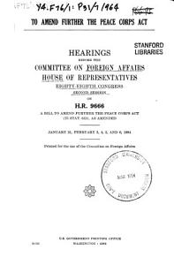To Amend Further the Peace Corps Act PDF
