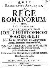 Exercitatio acad. de rege Romanorum