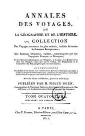 Annales des voyages de la géographie et de l'histoire: Volume14