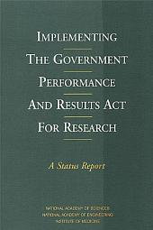 Implementing the Government Performance and Results Act for Research: A Status Report