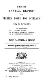 Annual Report of the Fishery Board for Scotland for the Year Ended: Volume 9, Part 1890