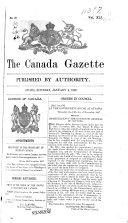 Download The Canada Gazette Book
