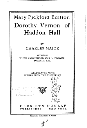 Dorothy Vernon of Haddon Hall PDF
