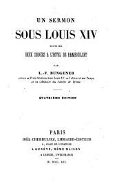 Un sermon sous Louis XIV: suivi de Deux soirées à l'hôtel de Rambouillet [mars 1644]
